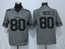 Mens Nfl San Francisco 49ers #80 Jerry Rice Gray Stitched Gridiron Limited Jersey