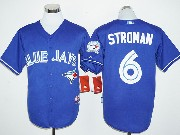 Mens Mlb Toronto Blue Jays #6 Marcus Stroman Blue 40th Anniversary Cool Base Jersey