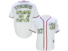 Mens Mlb Washington Nationals #37 Stephen Strasburg White Camo Usmc Jersey