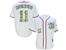 Mens Mlb Washington Nationals #11 Ryan Zimmerman White Camo Usmc Jersey