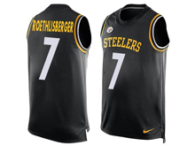 Mens Nfl Pittsburgh Steelers #7 Ben Roethlisberger Black Tank Top Jersey