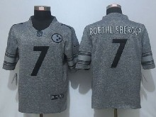 Mens Nfl Pittsburgh Steelers #7 Ben Roethlisberger Gray Stitched Gridiron Limited Jersey