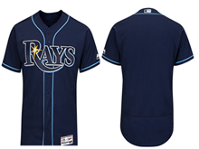 mens majestic tampa bay rays blank navy Flex Base jersey