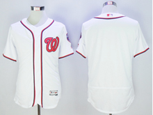 mens majestic washington nationals blank white Flex Base jersey