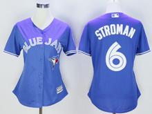 Women Mlb Toronto Blue Jays #6 Marcus Stroman Blue Majestic Jersey