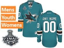 Reebok San Jose Sharks Green 2016 Stanley Cup Final Premier Jersey