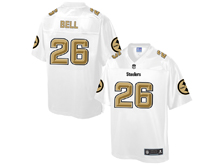 Mens Nfl Pittsburgh Steelers #26 Le'veon Bell Pro Line White Gold Collection Jersey