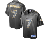 Mens Nfl San Francisco 49ers #7 Colin Kaepernick Pro Line Gray Gold Collection Jersey