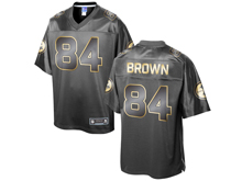 Mens Nfl Pittsburgh Steelers #84 Antonio Brown Pro Line Black Gold Collection Jersey