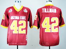 Mens Ncaa Nfl Arizona State Sun Devils #42 Pat Tillman Red Jersey