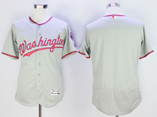 mens majestic washington nationals blank gray Flex Base jersey