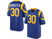 Mens Los Angeles Rams #30 Todd Gurley Royal Light Blue Elite Jersey