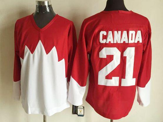 Mens nhl team canada #21 (blank) white 1972 vintage throwbacks Jersey