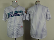 Mens Mlb Arizona Diamondbacks ( Blank ) White ( Blue Stripe ) Cool Base Jersey