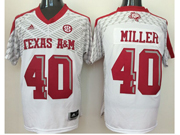 Mens Ncaa Nfl Texas A&m Aggies #40 Von Miller White Jersey