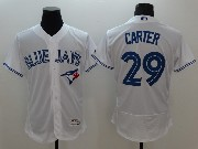 mens majestic toronto blue jays #29 joe carter white Flex Base jersey