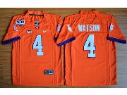Youth Ncaa Nfl Clemson Tigers #4 Deshaun Watson Orange College Football Jersey