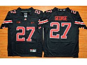 Youth Ncaa Nfl Ohio State Buckeyes #27 Eddie George Black Football Jersey