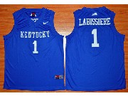 Mens Ncaa Nba 2016 Kentucky Wildcats #1 Skal Labissiere Blue Baketball Jersey