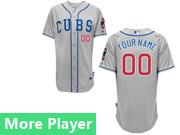 Mens Majestic Chicago Cubs Gray Cool Base Current Player Jersey