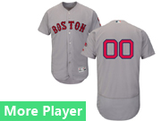 Mens Majestic Boston Red Sox Gray Flex Base Current Player Jersey