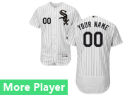 Mens Majestic Chicago White Sox White Stripe Flex Base Current Player Jersey