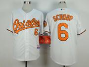 Mens Mlb Baltimore Orioles #6 Jonathan Schoop White Jersey