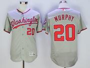 Mens Mlb Washington Nationals #20 Daniel Murphy Gray Flex Base Jersey