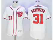 Mens Mlb Washington Nationals #31 Max Scherzer White Flex Base Jersey