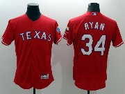 mens majestic texas rangers #34 nolan ryan red Flex Base jersey