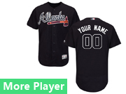 Mens Majestic Atlanta Braves Navy Flex Base Current Player Jersey