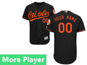 Mens Majestic Baltimore Orioles Black Flex Base Current Player Jersey