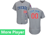 Mens Majestic Chicago Cubs Gray Flex Base Jersey