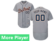 Mens Majestic Detroit Tigers Gray Flex Base Current Player Jersey