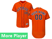 Mens Majestic Houston Astros Orange Flex Base Current Player Jersey