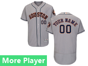 Mens Majestic Houston Astros Gray Flex Base Current Player Jersey
