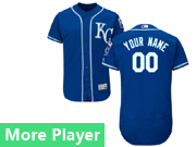 Mens Majestic Kansas City Royals Navy Blue Flex Base Current Player Jersey