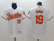 mens majestic baltimore orioles #19 chris davis white Flex Base jersey