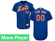 Mens Majestic New York Mets Blue Flex Base Current Player Jersey