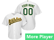 Mens Womens Youth Majestic Oakland Athletics White Cool Base Current Player Jersey