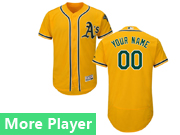 Mens Majestic Oakland Athletics Gold Flex Base Current Player Jersey