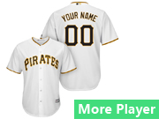 Mens Womens Youth Majestic Pittsburgh Pirates White Cool Base Current Player Jersey