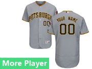 Mens Majestic Pittsburgh Pirates Gray Flex Base Current Player Jersey