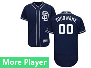 Mens Majestic San Diego Padres Navy Blue Flex Base Current Player Jersey