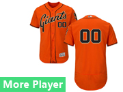 Mens Majestic San Francisco Giants Orange Flex Base Current Player Jersey