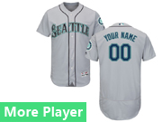 Mens Majestic Seattle Mariners Gray Flex Base Current Player Jersey