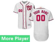 Mens Majestic Washington Nationals White Flex Base Current Player Jersey