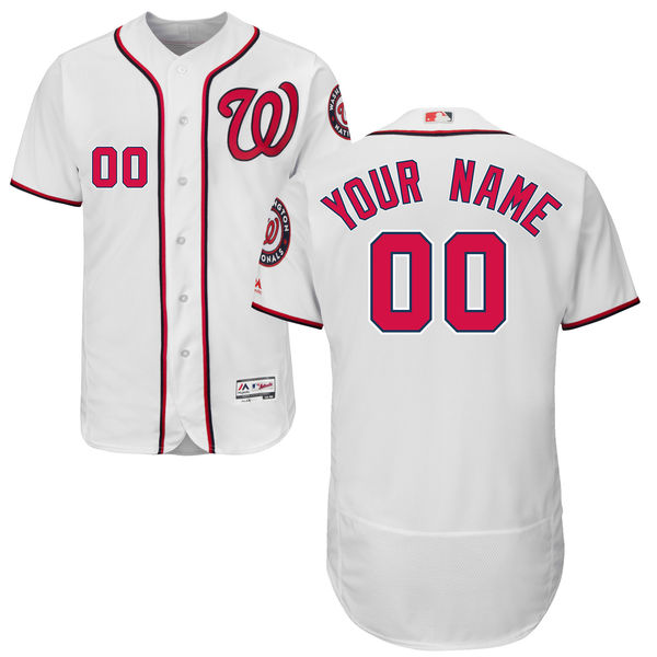 Mens Majestic Washington Nationals White Flex Base Current Player Jersey