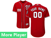 Mens Majestic Washington Nationals Red Flex Base Current Player Jersey