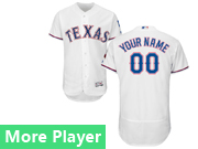 Mens Majestic Texas Rangers White Flex Base Current Player Jersey
